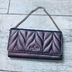 Lowest price! Kate Spade METALLIC chain clutch 🤩
